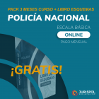 Pack 3 meses Policía Nacional MEDIUM + Libro de Esquemas GRATIS